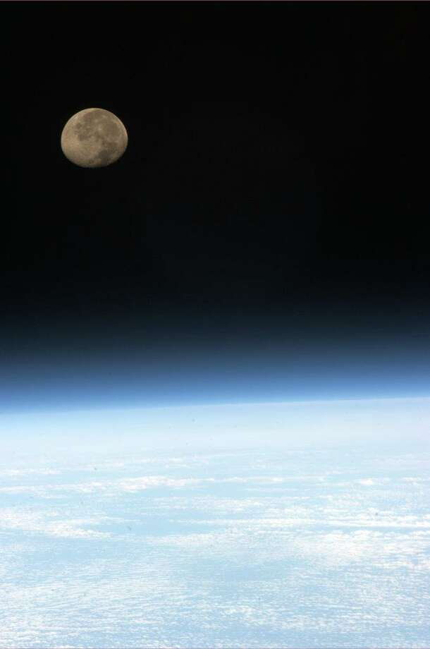 Moonset, one of 16 per day on ISS, all marvelous to see. Photo: Col. Chris Hadfield/CSA/NASA