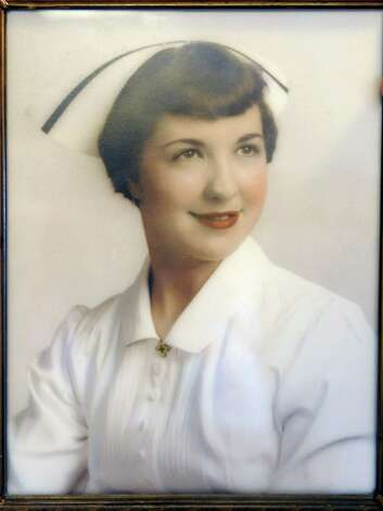 Earlier nursing photo of now 80-year-old nurse Esther Rappold, second from right, was recognized for 60 years of work at Albany Memorial Hospital on Monday, May 13, 2013 in Albany, N.Y. (Lori Van Buren / Times Union) Photo: Lori Van Buren / 00022369A