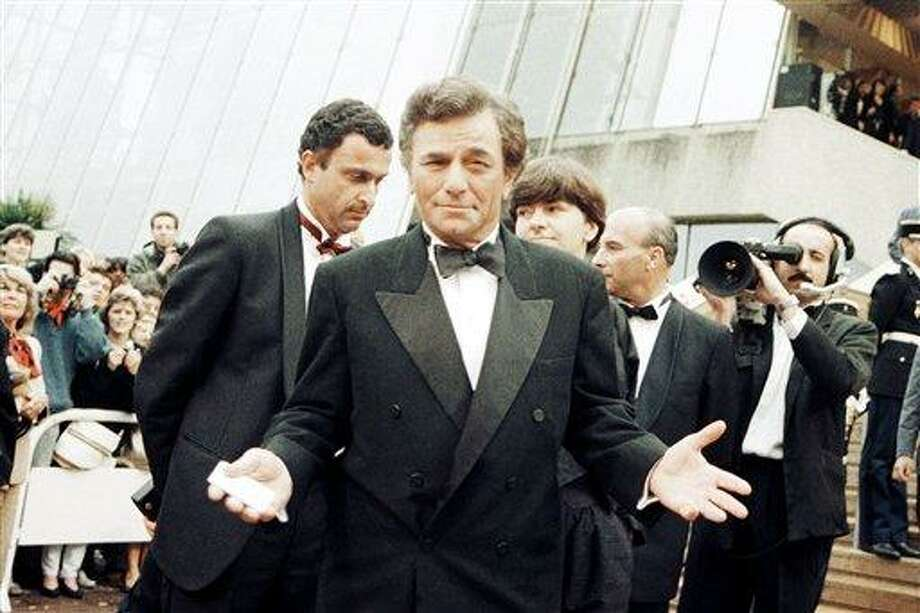 US actor Peter Falk gestures at the 27th International Film Festival in Cannes, France, on May 18, 1974. Photo: Jean Jacques Levy, ASSOCIATED PRESS / AP1974