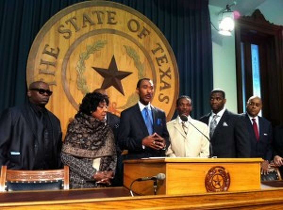 Cory Sessions, whose brother Timothy Cole died while wrongfully imprisoned, is among several urging lawmakers to pass a bill that establishes a commission to review cases of exonerations. Photo by Eva Ruth Moravec
