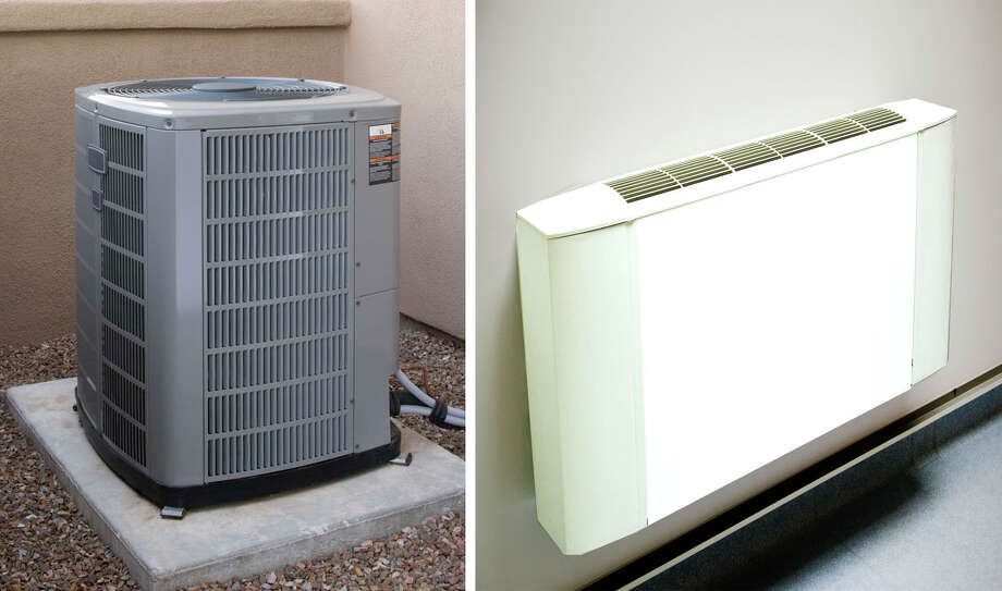 From an energy-efficiency standpoint, room A/C units are best for keeping one or two rooms cool at a time, while central air is more efficient overall at keeping a whole house cool. Photo courtesy of Comstock/Hemera Collection Photo: Contributed Photo