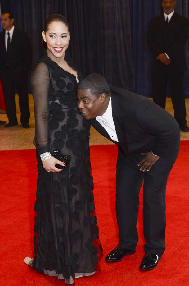 Megan Wollover and Tracy Morgan
