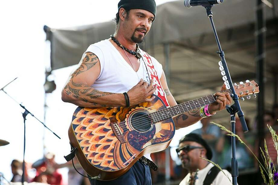 Michael Franti performs  with Spearhead on stage Sunday. Michael Franti and Spearhead played the WillPower Stage at Bottle Rock Napa Valley on May 12, 2013. Photo: Lee Fenyves