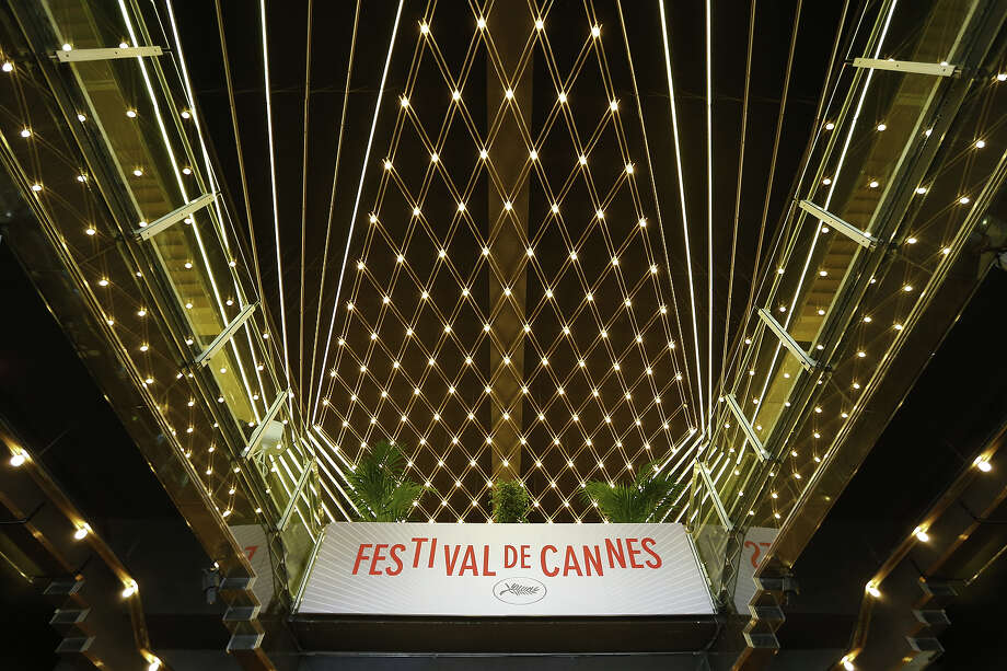 "A photo taken on May 14, 2013 shows a board reading ""Cannes Festival"" inside the Palais des Festival in Cannes on the eve of the 66th edition of the Cannes Film Festival. Cannes, one of the world's top film festivals, opens on May 15 and will climax on May 26 with awards selected by a jury headed this year by Hollywood legend Steven Spielberg. Photo: VALERY HACHE, AFP/Getty Images / 2013 AFP"