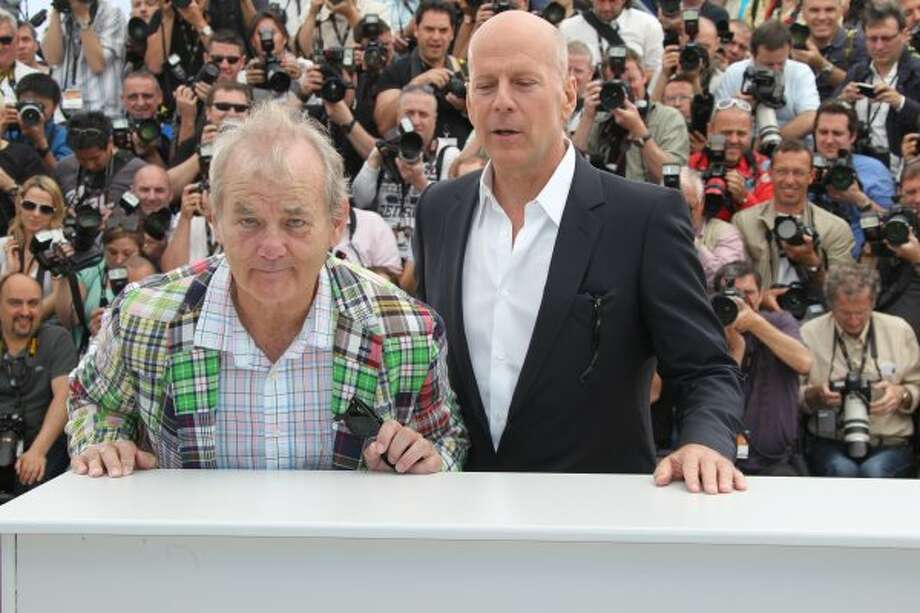Bruce Willis and Bill Murray pose at the 'Moonrise Kingdom' photocall during the 65th Annual Cannes Film Festival at Palais des Festivals on May 16, 2012 in Cannes, France. Photo: Andrew H. Walker, Getty Images
