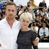 "Actors Ryan Gosling, left, and Michelle Williams pose during a photo call for the film ""Blue Valentine"", at the 63rd international film festival, in Cannes, southern France, Tuesday, May 18, 2010."