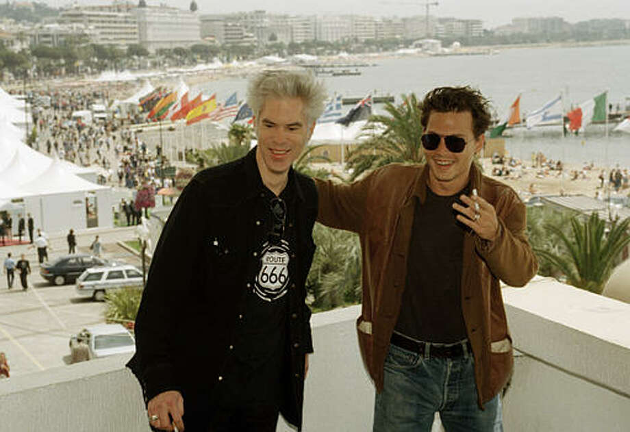 U.S. actor Johnny Depp, right, poses with U.S. film director Jim Jarmusch at the Festival Palace in Cannes, France, May 27, 1995. Photo: Laurent Rebours, ASSOCIATED PRESS / AP1995