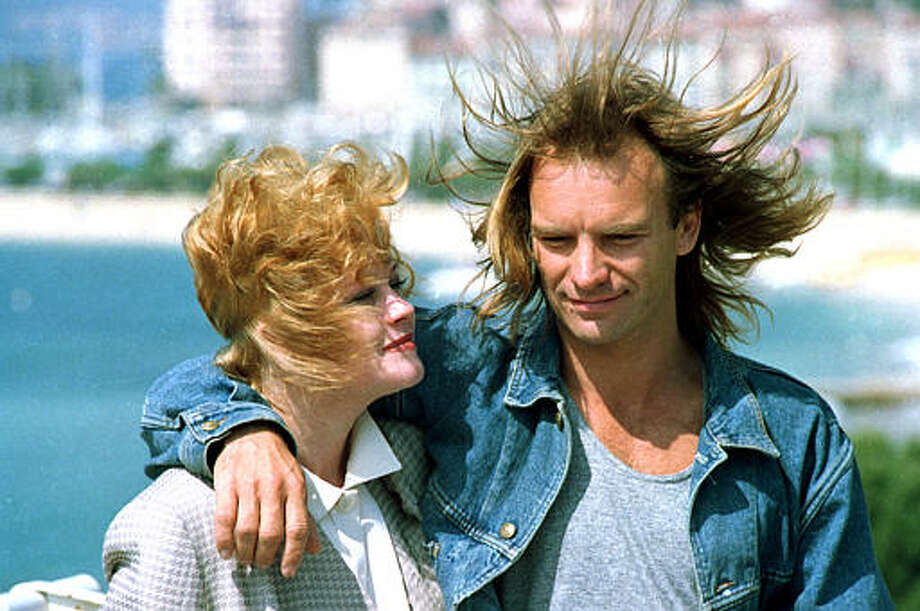 Sting, of the British band Police, and American actress Melanie Griffith pose at the 41st Cannes International Film Festival in Cannes, France, May 17, 1988. Photo: Gilbert Tourte, ASSOCIATED PRESS / AP1988