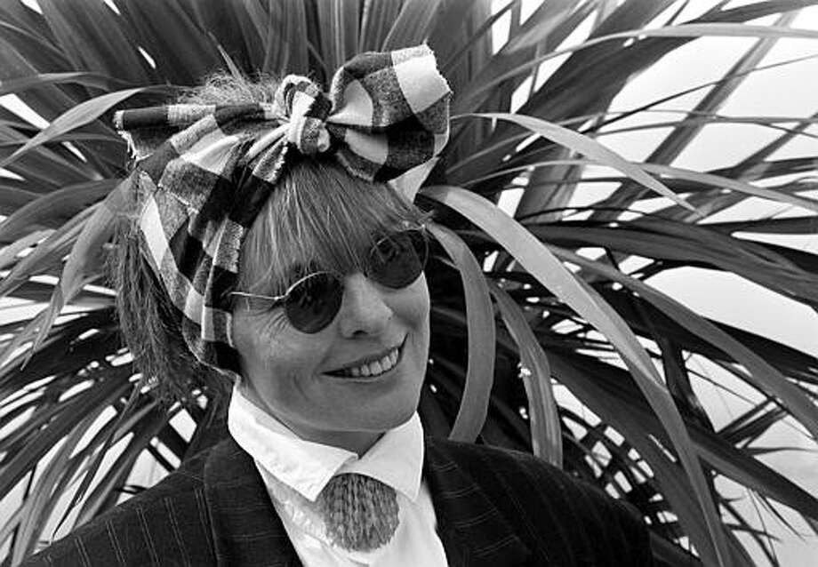 """American actress Diane Keaton arrives at a news conference at the 40th International Cannes Film Festival where she will introduce her film, """"Heaven,"""" in Cannes, France, May 12, 1987.  Keaton makes her directorial debut with her film, which is part of the non-official entry at the festival. Photo: Michel Lipchitz, ASSOCIATED PRESS / AP1987"""