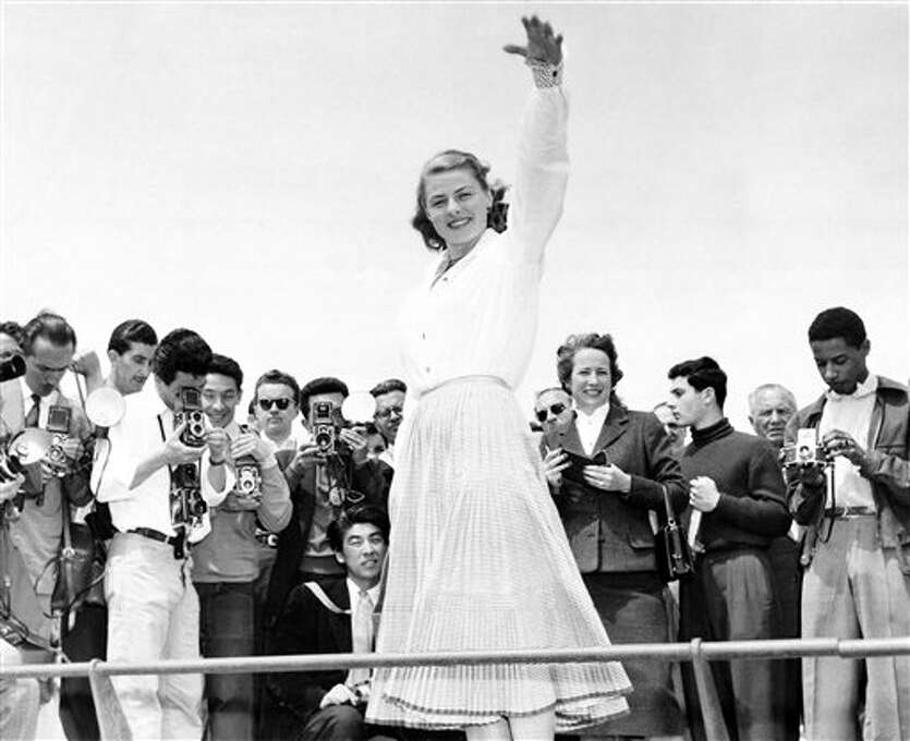 Ingrid Bergman is snapped from all sides by a crowd of photographers at Cannes, May 16, 1956. She was one of the attractions at the film festival on the Riviera. Photo: PS, ASSOCIATED PRESS / AP1956