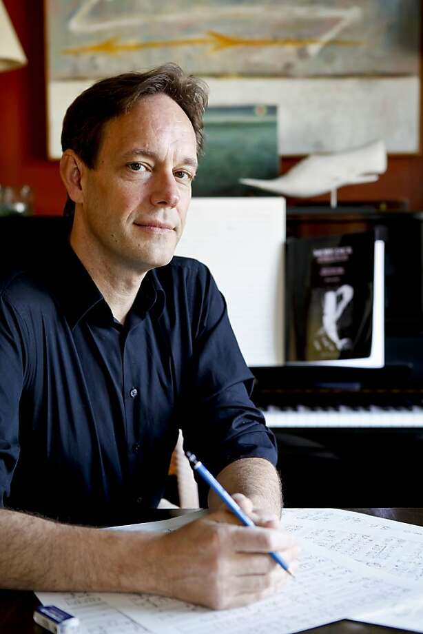 Composer Jake Heggie, above, a fan of the series, is having the world premiere of his song cycle set to poems by Galway Kinnell at the gala. Photo: Russell Yip, The Chronicle