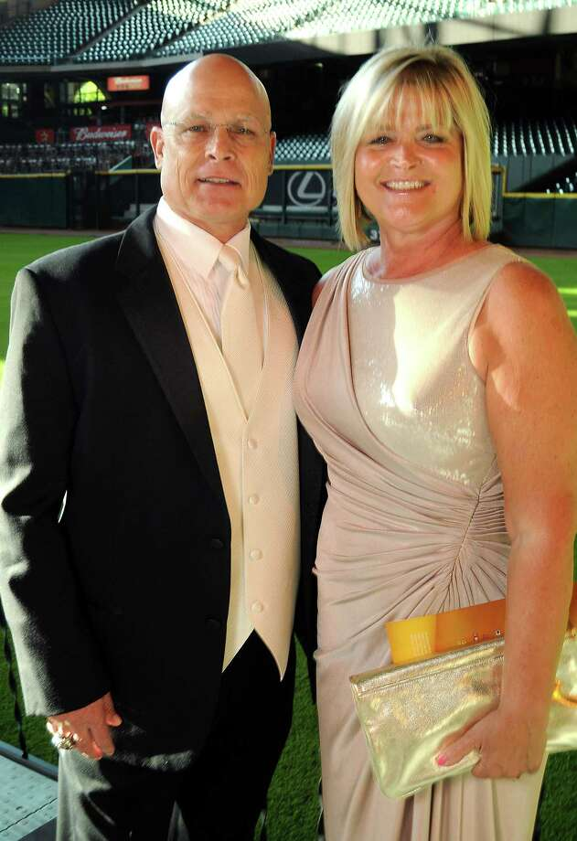 Manager Brad Mills and his wife, Rhonda, at the Astros Wives' Gala. Photo: Dave Rossman, For The Houston Chronicle / © 2012 Dave Rossman