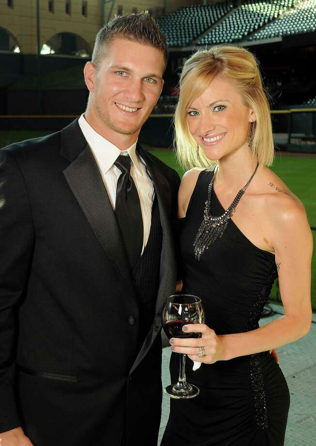 Outfielder Brandon Barnes and his wife, Shawn, at the Astros Wives' Gala. Photo: Dave Rossman, For The Houston Chronicle / © 2012 Dave Rossman