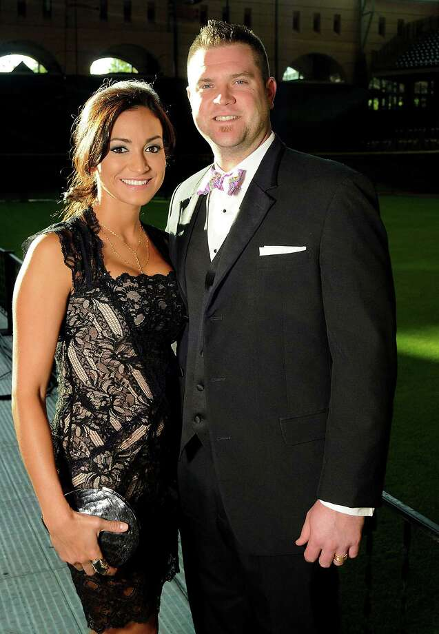Catcher Chris Snyder and his wife, Carla, at the Astros Wives' Gala. Photo: Dave Rossman, For The Houston Chronicle / © 2012 Dave Rossman