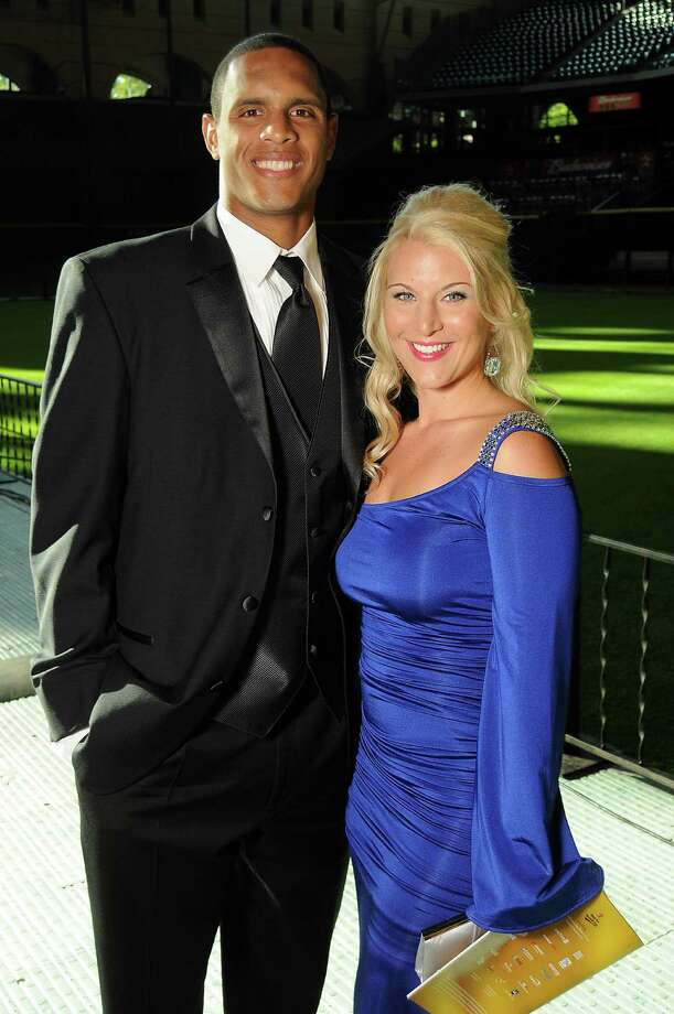 Outfielder Justin Maxwell and his wife, Loren, at the Astros Wives' Gala. Photo: Dave Rossman, For The Houston Chronicle / © 2012 Dave Rossman