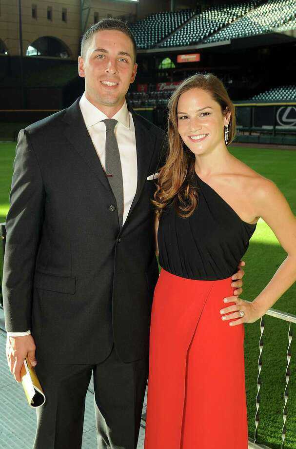 Catcher Jason Castro and his girlfriend, Maris Perlman, at the Astros Wives' Gala. Photo: Dave Rossman, For The Houston Chronicle / © 2012 Dave Rossman