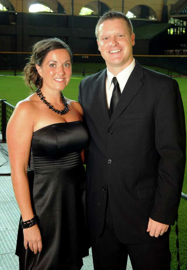 Astros executive Jason Howard and his wife, Mandi, at the Astros Wives' Gala. Photo: Dave Rossman, For The Houston Chronicle / © 2012 Dave Rossman
