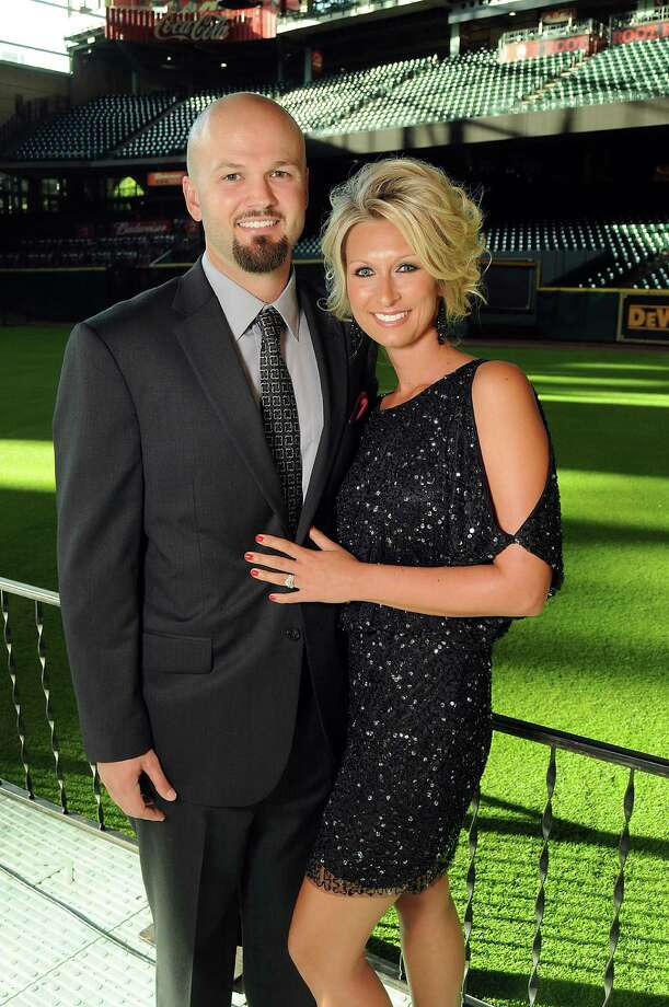 Infielder Scott Moore and his wife, Meghan, at the Astros Wives' Gala. Photo: Dave Rossman, For The Houston Chronicle / © 2012 Dave Rossman