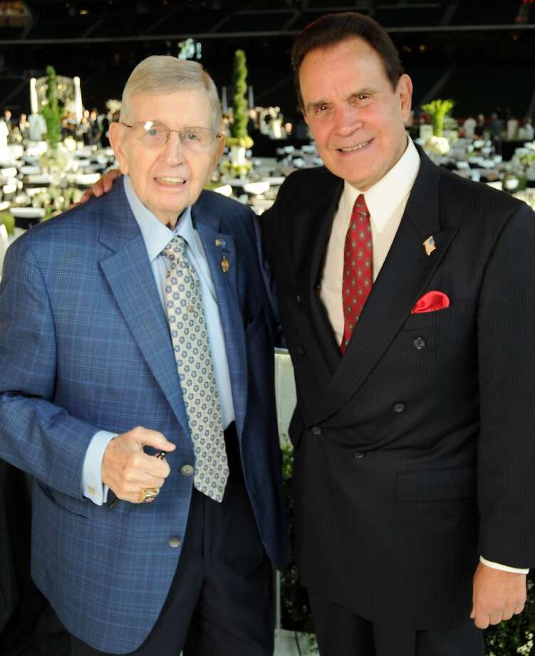 Milo Hamilton and Rich Little at the Astros Wives Gala at Minute Maid Park.