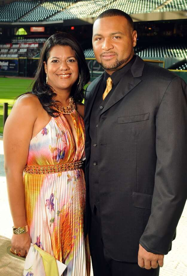 Mary and Carlos Lee at the Astros Wives Gala at Minute Maid Park.