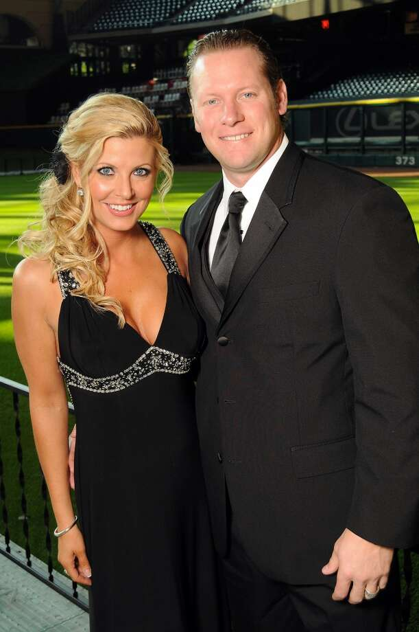Pamela and Jason Michaels at the Astros Wives Gala at Minute Maid Park.