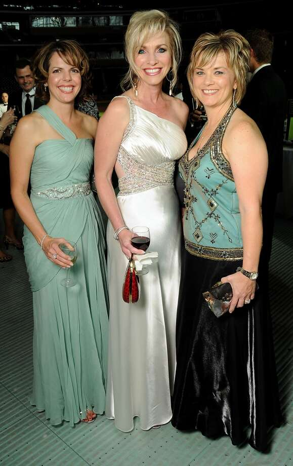 2010 From left: Cindy Lewis, Laurie DeClaire and Wendy Drapela at the annual Astros Wives Gala at Minute Maid Park .