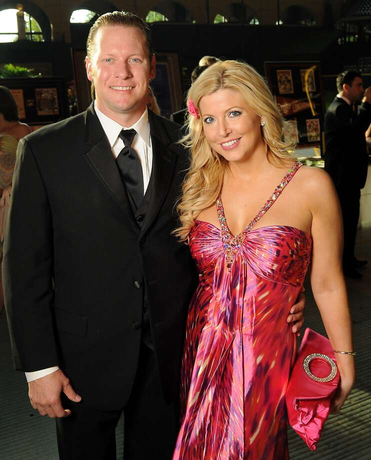 Jason Michaels and his wife Pamela at the annual Astros Wives Gala at Minute Maid Park.