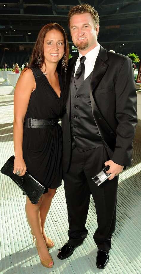 Sara and Brandon Lyon at the annual Astros Wives Gala at Minute Maid Park.