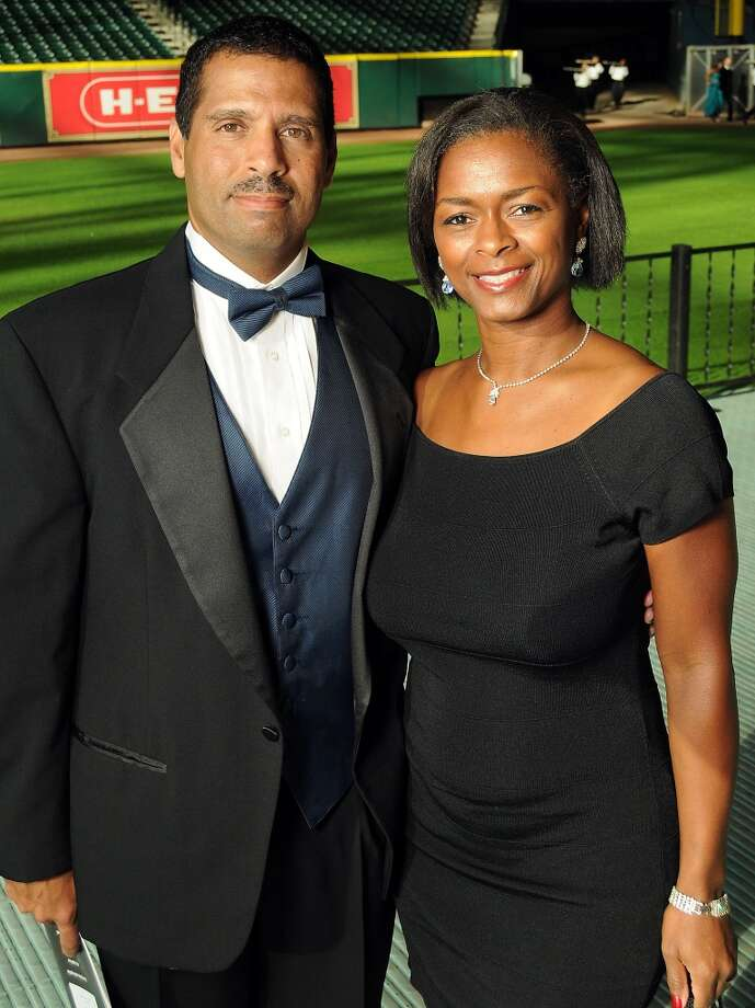 Kandee and Gene Dias at the annual Astros Wives Gala at Minute Maid Park.