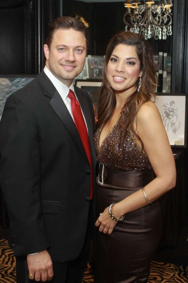 Joseph Mire and Erica Villarreal at the Annual Latino Learning Center Night with the Stars Gala.