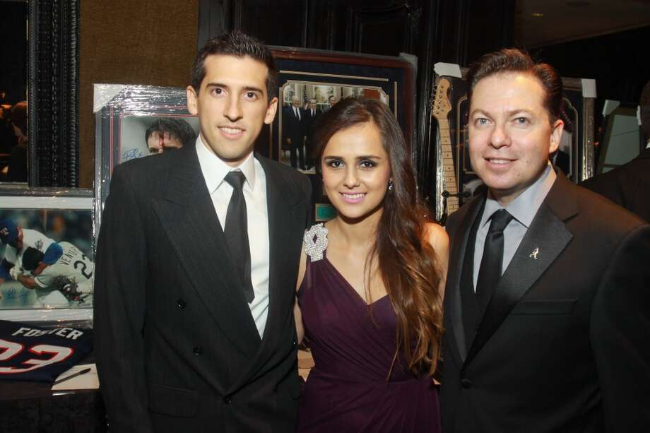 Alex Novoa, from left, Ana Estrada and Jorge Raptis at the Annual Latino Learning Center Night with the Stars Gala.