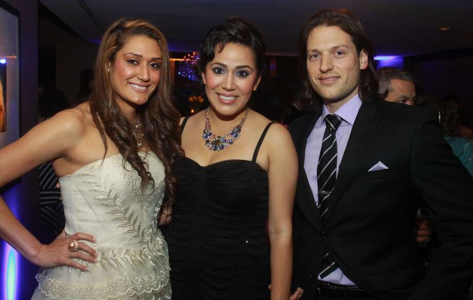 Natalia Nino, from left, Rebecca Duran and Joshua Dunn at the Annual Latino Learning Center Night with the Stars Gala.