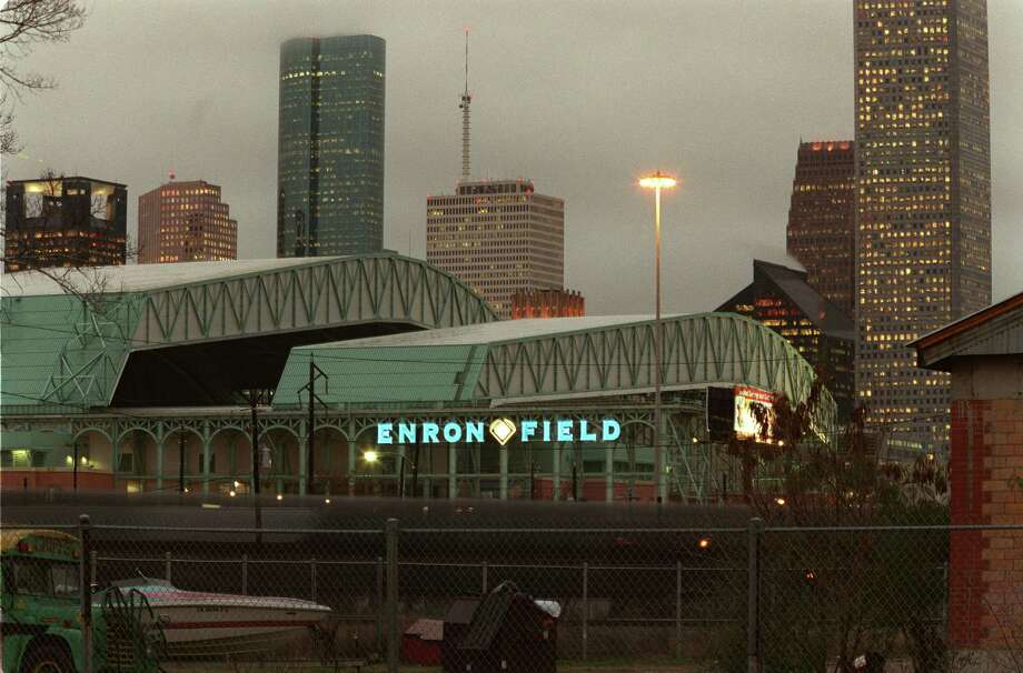 You still think of Minute Maid Park as Enron Field. --Nancy Sarnoff / Houston Chronicle Photo: Buster Dean, Houston Chronicle / Houston Chronicle