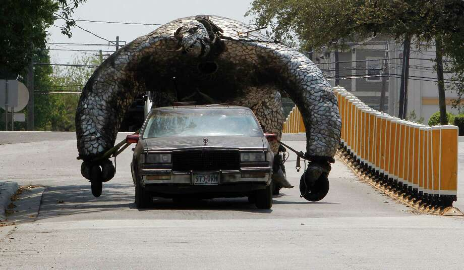 You see a car-turned-critter and don't freak out. --Staff / Houston Chronicle Photo: James Nielsen, Chronicle / © 2011 Houston Chronicle