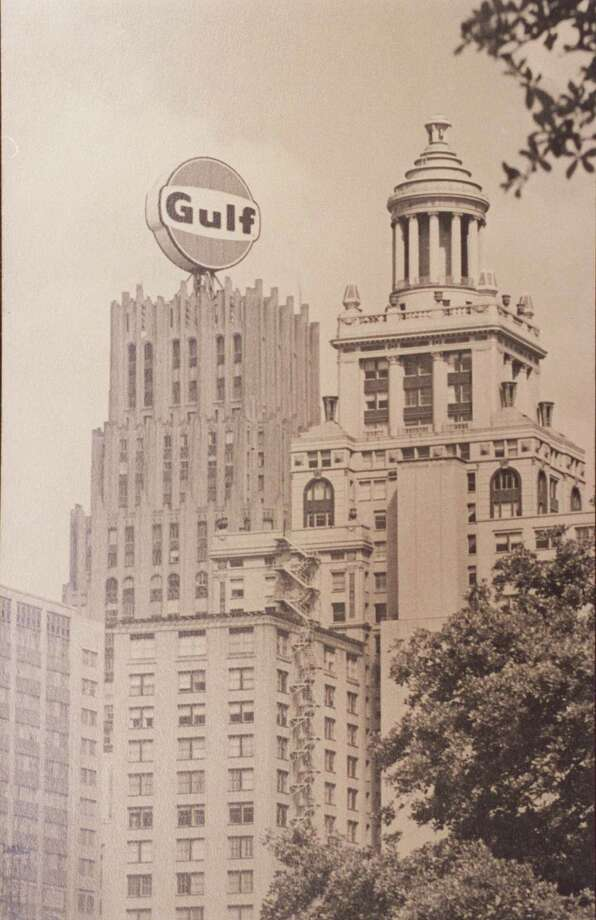 "You remember the big illuminated rotating ""Gulf"" sign on the Gulf Oil Building downtown. --KellyBWalker / Twitter Photo: UNKNOWN / HANDOUT"