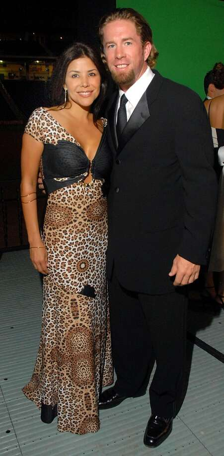 2007 Ericka and Jeff Bagwell at the Astros Wives Black Ties & Baseball Caps Gala at Minute Maid Park