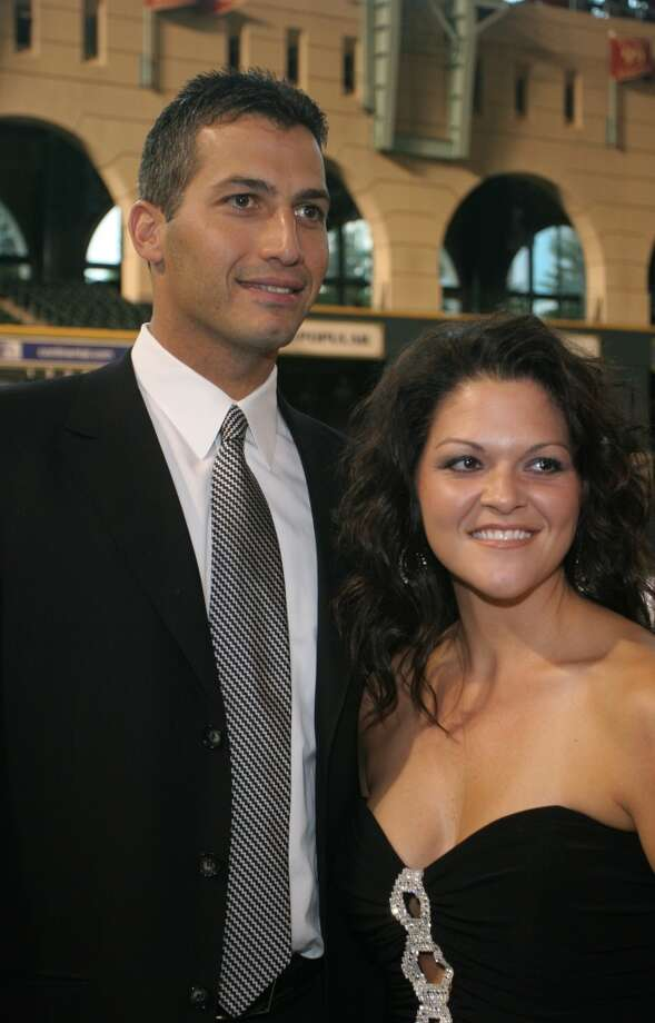 2006 Andy and Laura Pettitte at the Astro Wives' Black Ties and Baseball Caps event at Minute Maid Park