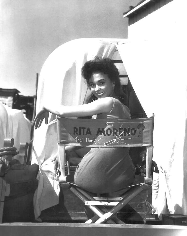 Award-winning actress Rita Moreno on the set of Untamed, 1955.