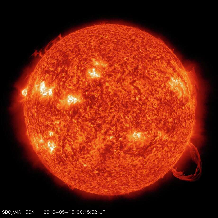 SDO 304 Angstrom image of prominence eruption. Credit: NASA/SDO Photo: NASA