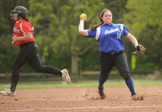 Ludlowe's Brenna Martini. New Canaan v. Ludlowe girls softball in Fairfield, Conn. on Monday, May 13, 2013. Photo: Brian A. Pounds / Connecticut Post