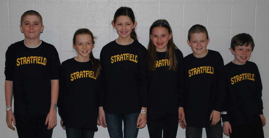 These fifth graders at Stratfield School have been on an odyssey that will make them to Michigan later this month. The six-member team is headed to the Odyessy of the Mind World Finals after capturing second place in the problem-solving contest's state tournament. The creative-solutions squad is, from left, Brodie Hopkinson, Bridget Keary, Maeve McManus, Claire Cherniske, Blake Holroyd and Michael McAleese. Photo: Contributed Photo / Fairfield Citizen contributed