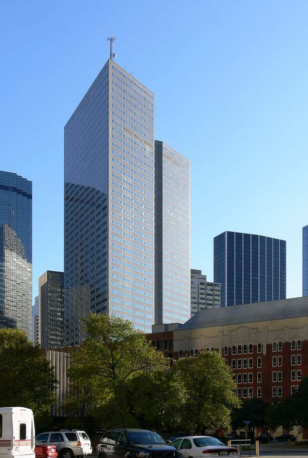 Energy Plaza in Dallas: 629 feet, 49 stories Photo: Andreas Praefcke / Wikipedia Commons