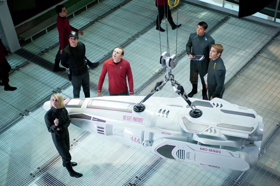Paramount has released these images as part of a sneak peek of Star Trek: Into Darkness, which opens on May 16. Photo: Photo Credit: Jaimie Trueblood, Paramount Pictures / © 2013 Paramount Pictures.  All Rights Reserved.