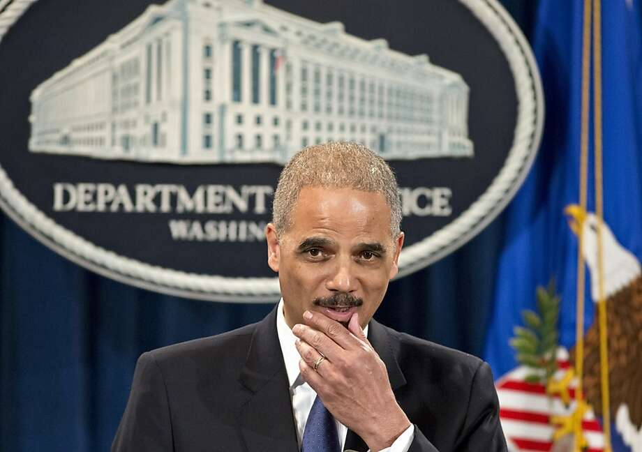 Eric Holder Photo: J. Scott Applewhite, Associated Press