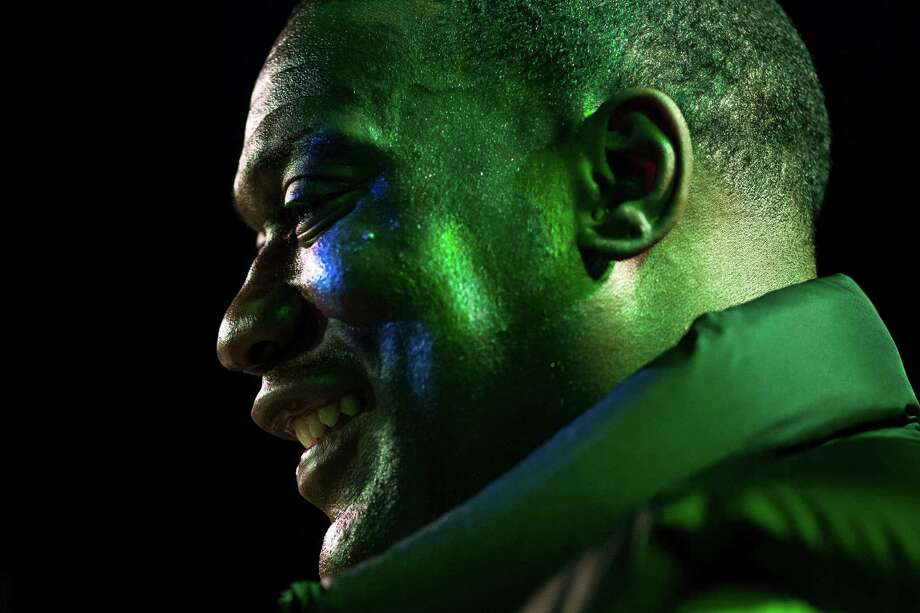 Shawn Kemp smiles while addressing an enthusiastic crowd during a Bring Our Sonics Back rally and concert Monday, May 13, 2013, at Neumos in Seattle. The free event featured such local hip hop artists as Geo, Grynch, Nacho Picasso and Dyme Def. Photo: JORDAN STEAD, SEATTLEPI.COM / SEATTLEPI.COM