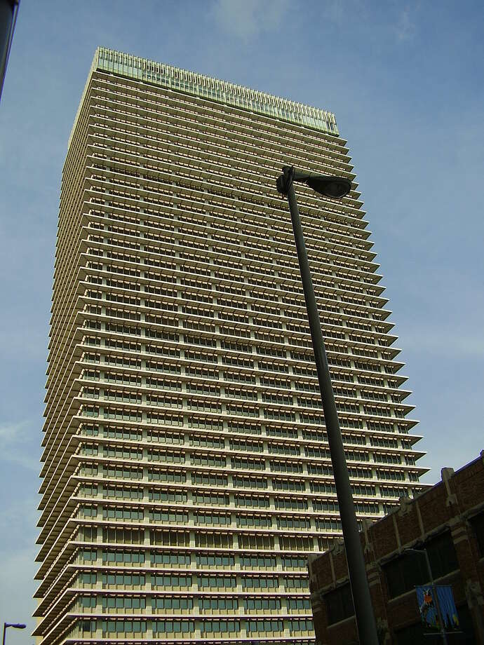 ExxonMobil Building in Houston: 607 feet, 44 stories Photo: WhisperToMe / Wikipedia Commons