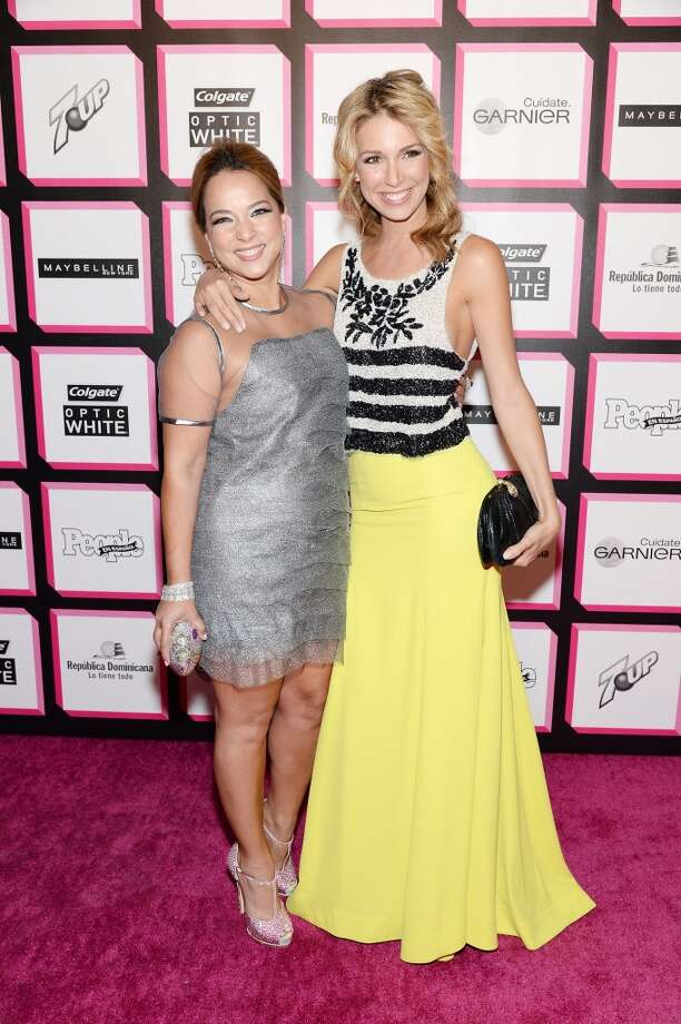 Actress Adamari Lopez (L) and TV personality Alessandra Villegas