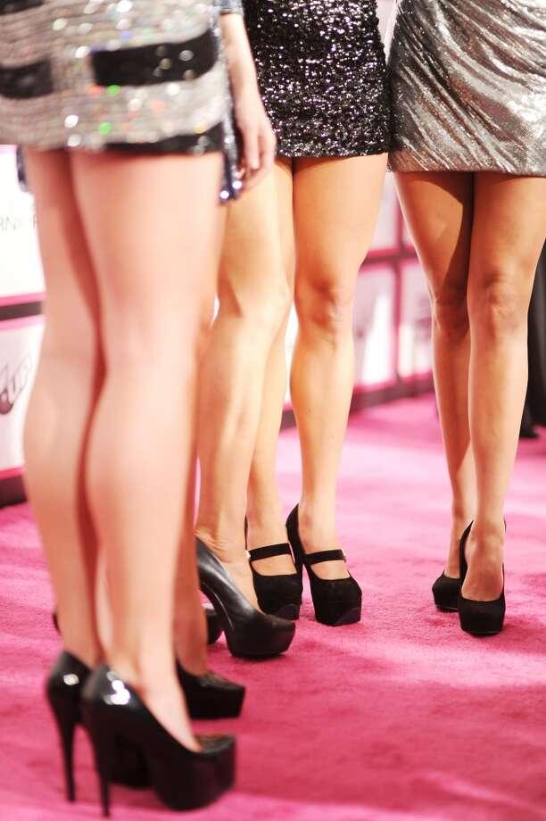 """Finalists from """"Nuestra Belleza Latina"""" Marina Ruiz, Barbara Turbay, Viviana Ortiz, Marisela Demontecristo, and Audris Rijo"""