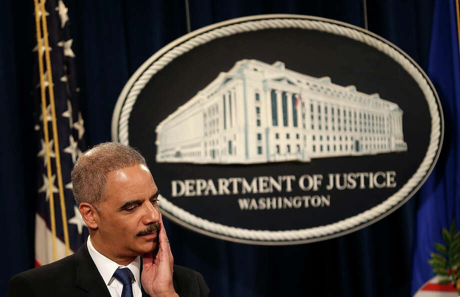 Attorney General Eric Holder spoke during a recent news conference at the Justice Department about allegations that the Internal Revenue Service targeted conservative groups for unusual scrutiny. A reader says the report should concern all Americans, not just conservatives and Republicans. Photo: DOUG MILLS, New York Times / NYTNS