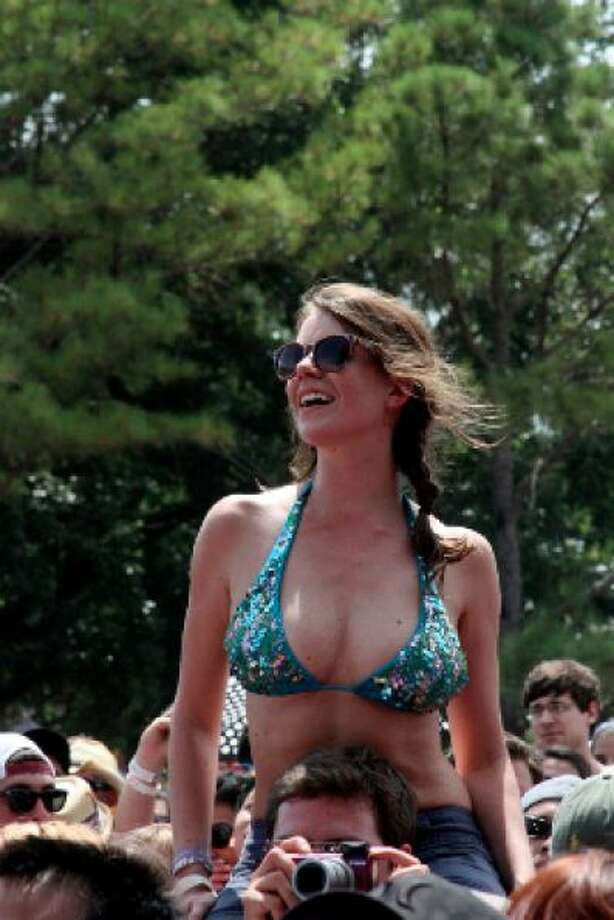 Bikini tops: The best way to stay cool. Bikini bottoms: The best way to get grass burn on your rear.